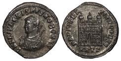 Ancient Coins - Crispus, as Caesar 317-326 A.D. Follis Heraclea Mint Near EF