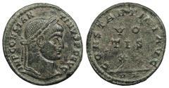 Ancient Coins - Constantine I 307-337 A.D. Follis Arles Mint Near EF