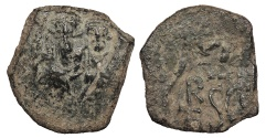 Ancient Coins - Heraclius 610-641 AD Follis Sicily countermark Good VF