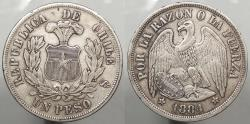 World Coins - CHILE: 1884-So Peso