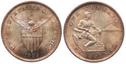 World Coins Philippines 1903 Centavo Unc