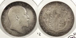 World Coins - GREAT BRITAIN: 1907 Halfcrown