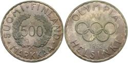 World Coins - FINLAND: 1952 H 15th Olympiad 500 Markkaa
