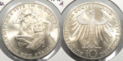 World Coins - GERMANY: Federal Republic 1972-J Olympic commemorative 10 Mark