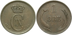 World Coins - DENMARK: 1878 1 Ore