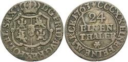 World Coins - GERMAN STATES: Saxony Under Poland 1763-EDC 1/24 Thaler