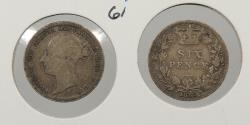 World Coins - GREAT BRITAIN: 1885 Sixpence