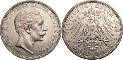 World Coins - GERMANY: Prussia 1912 A 3 Mark