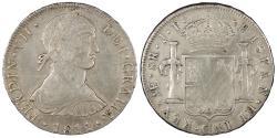 World Coins - PERU Ferdinand VII 1811-LIMAE JP 8 Reales EF