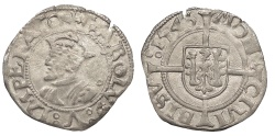 World Coins - FRANCE Besançon Charles V, as Holy Roman Emperor 1530-1556 1/2 Blanc 1546 Good VF