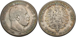 World Coins - GERMANY: Prussia 1877 B 2 Mark