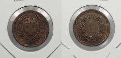 World Coins - SWITZERLAND: 1880-B Rappen