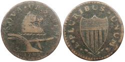 Us Coins - 1788 New Jersey Copper Colonial Coinage Maris 67-v; W-5510 VF