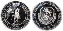 World Coins - SWITZERLAND Thurgau Weinfelden 1993 50 Francs Proof
