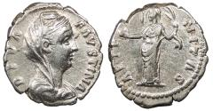 Ancient Coins - Diva Faustina I Died 140/1 A.D. Denarius Rome Mint Good VF