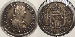 World Coins - MEXICO: 1810-Mo TH 1/2 Real