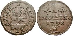 World Coins - GERMAN STATES: Rostock 1798 1 Pfennig