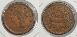 Us Coins - 1854 Braided Hair 1 Cent