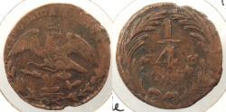 World Coins - MEXICO: 8836 (1839) -Mo A 1/4 Real
