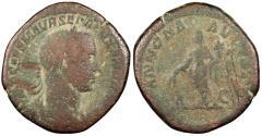 Ancient Coins - Severus Alexander 222-235 A.D. Sestertius Rome Mint About Fine