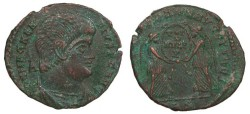 Ancient Coins - Magnentius 350-353 A.D. Follis Trier Mint Good VF