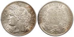 World Coins - FRANCE 1887-A 2 Francs Choice AU