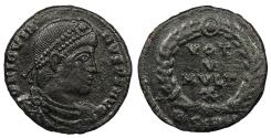 Ancient Coins - Jovian 363-364 A.D. AE3 Sirmium Mint Good VF