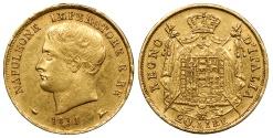 World Coins - ITALIAN STATES Kingdom of Napoleon Napoleon Bonaparte 1811-M 20 Lire AU