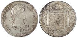 World Coins - PERU Ferdinand VII 1820-LIMAE JP 8 Reales EF