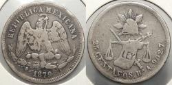 World Coins - MEXICO: 1879-Ho A 25 Centavos