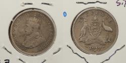 World Coins - AUSTRALIA: 1919-M Better date. Sixpence