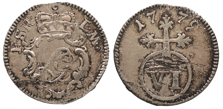 World Coins - GERMAN STATES Schwarzburg-Rudolstadt Ludwig Günther II 1779 6 Pfennig (Sechser) UNC