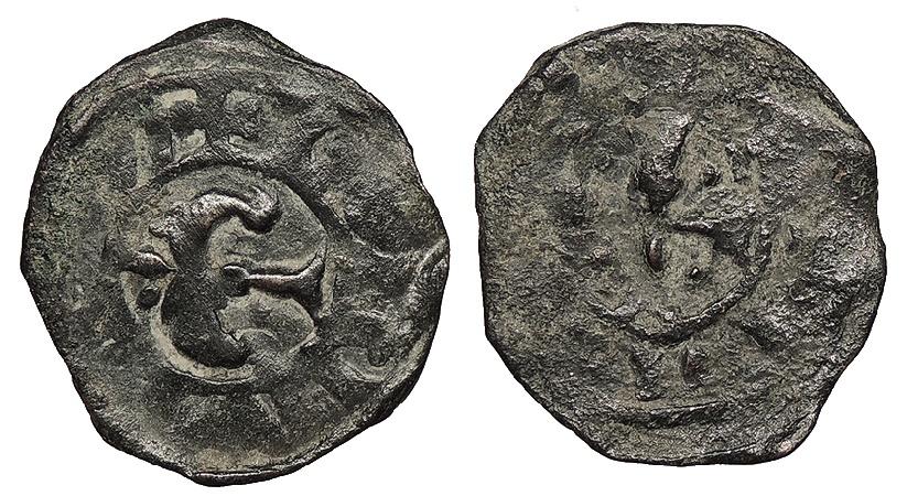 World Coins - CRUSADERS Antioch Bohemund III or IV Circa 1163-1225 Fractional Denier VF