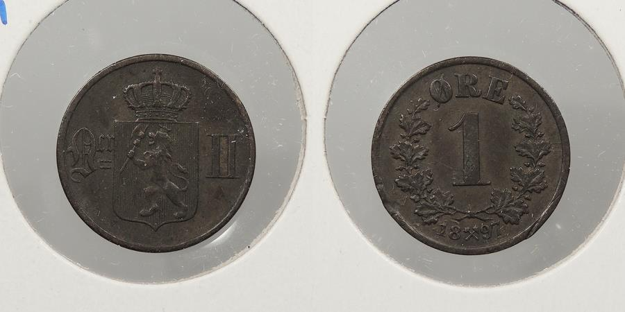 World Coins - NORWAY: 1897 Ore