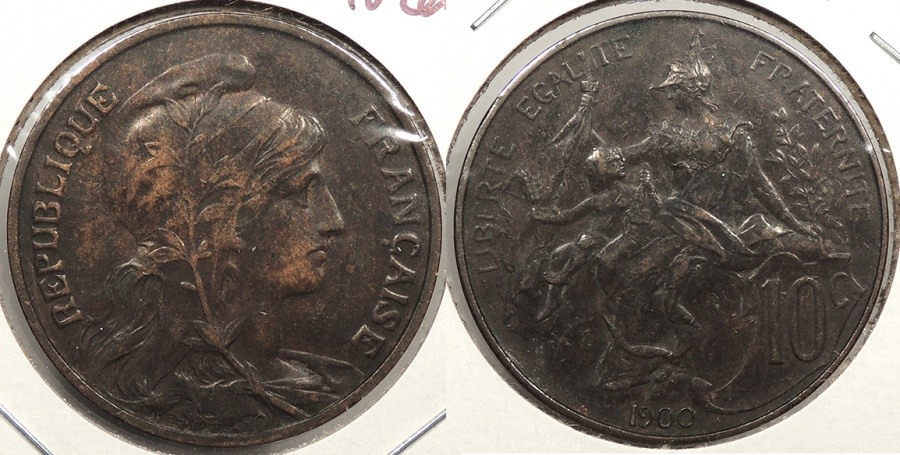 World Coins - FRANCE: 1900 10 Centimes