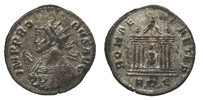 Ancient Coins - Probus 276-282 A.D. Antoninianus Rome Mint Near EF