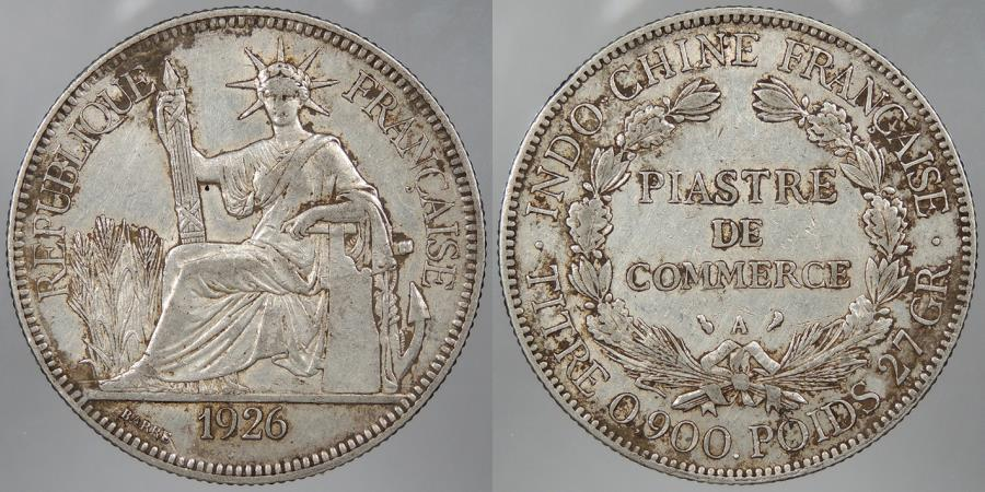 World Coins - FRENCH INDO-CHINA: 1926 Piastre