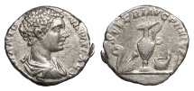 Ancient Coins - Caracalla, as Caesar 196-198 A.D. Denarius Rome Mint VF