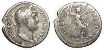 Ancient Coins - Hadrian 117-138 A.D. Denarius Rome Mint Near VF