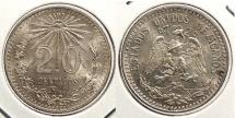 World Coins - MEXICO: 1940-Mo 20 Centavos