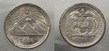 World Coins - GUATEMALA: 1886 1/4 Real