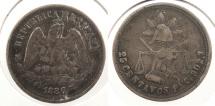 World Coins - MEXICO: 1886-Pi C 25 Centavos