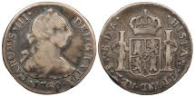 World Coins - CHILE Charles III 1780-So DA 2 Reales About Fine