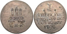 World Coins - GERMAN STATES: Hamburg 1794 1 Schilling