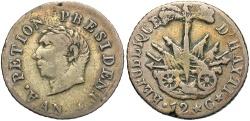 World Coins - HAITI: 1817 (An 14) 12 Centimes
