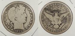 Us Coins - 1915-S Barber 50 Cents (Half Dollar)
