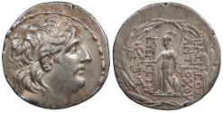 Ancient Coins - Seleukid Kings Antiochos VII 138-129 B.C. Tetradrachm Good VF