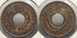World Coins - EAST AFRICA: 1957-H Cent