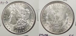 Us Coins - 1891 S Morgan 1 Dollar (Silver)