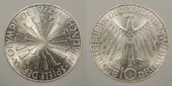 World Coins - GERMANY (WEST): 1972-D 10 mark